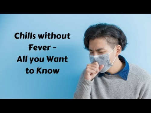 A patient with chills as well as colds and cough.image