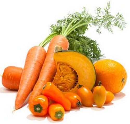 Foods rich in beta-carotene, which could cause orange diarrhea.image